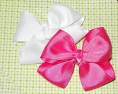 Medium Pink & White Bow By Tulipsea IN STOCK
