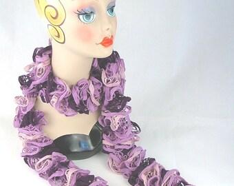 Ruffle Scarf Lilac/Purple