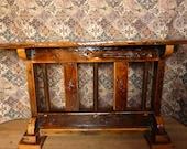 Reclaimed Barnwood Sofa Table / Entry Hall Table Rose Design barn wood