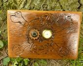 Reclaimed Barn wood Steam Punk Wall hanging Clock