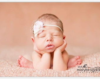 Newborn headband/Newborn photo prop/ Baby headband/ Flower headband