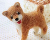 Needle Felting Kit / Needle Felted - Kawaii Dog Shiba inu DIY Wool Felt (fk-26)