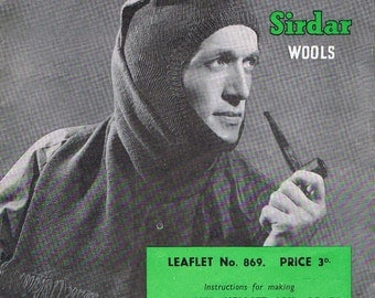 More Comforts For The Forces 1940s Mens knitting pattern PDF (T151)