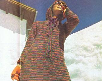 Dazzling Ski Tunic to Crochet - PDF Pattern Vintage 1970s (T186)