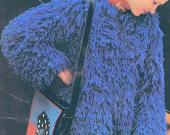 Faux Fur Gilet or Jacket Crochet pattern FAB - PDF Pattern 1970s (T214)