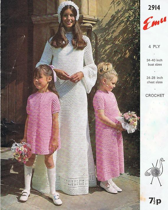 Crochet Wedding Dress Pattern : Wedding Dress Crochet Pattern and Bridesmaid Dress Crochet Pattern ...