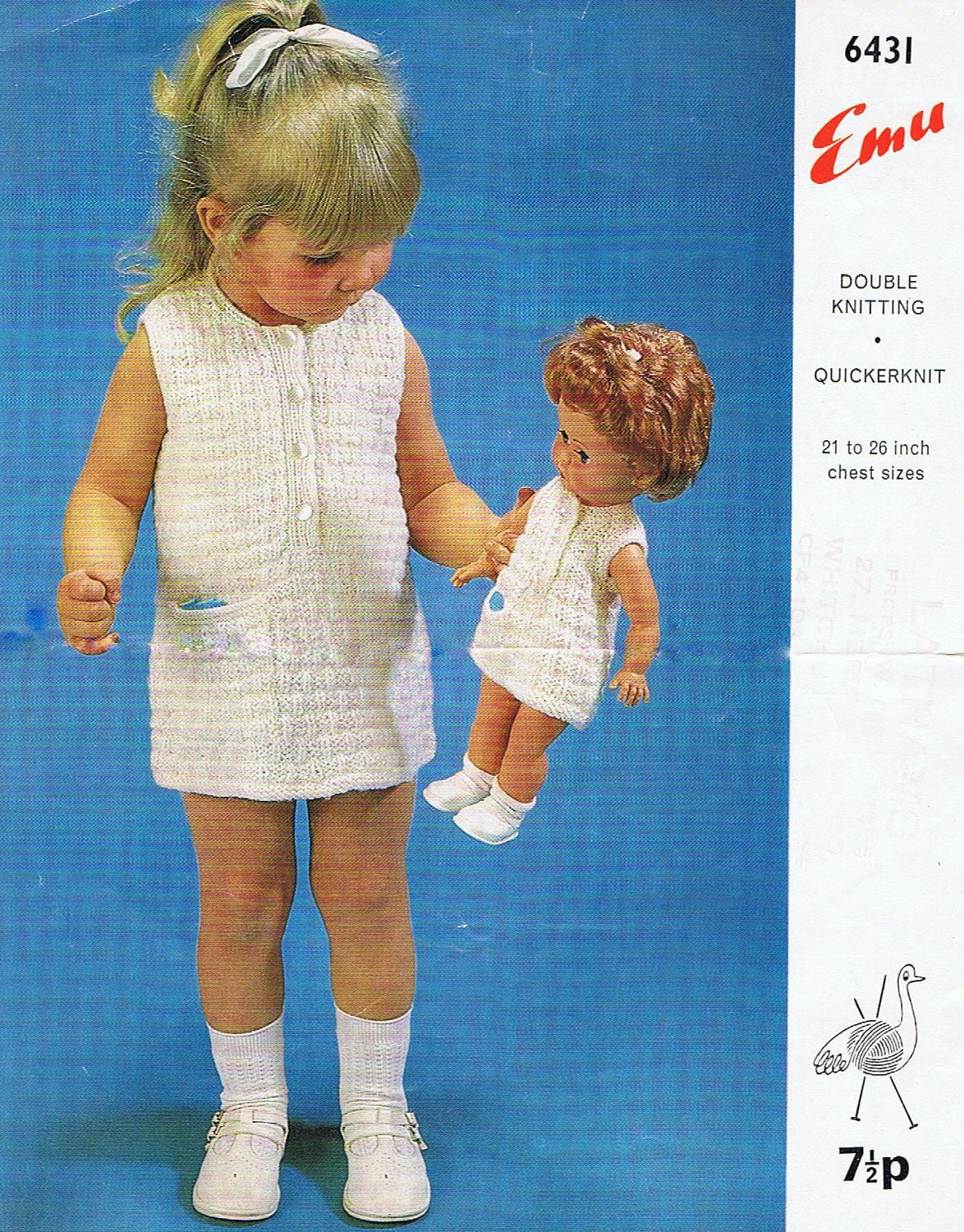 Matching Girls And Dolls Dress And Knickers Knitting