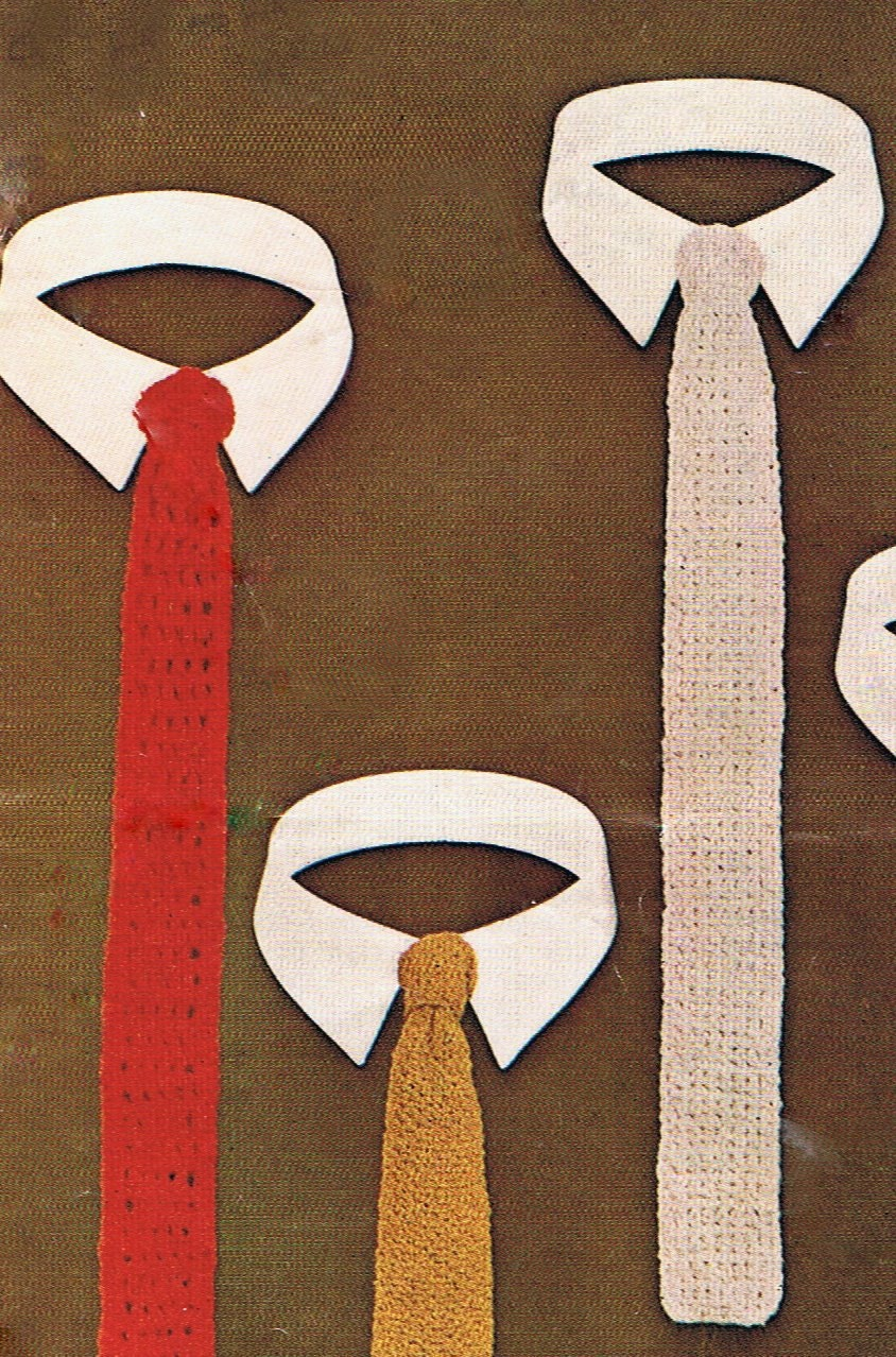 5 Skinny Ties Knitting And Crochet Pattern By Heirloompatterns