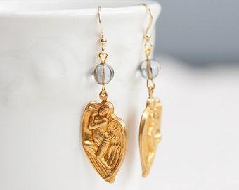 Angel Wing Earrings Victorian Ornament Angel Earrings - E020