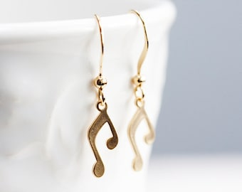 Music Note Earrings Song Note Dangle Earrings Music Symbol Note Charms Musical Note Jewelry - E167