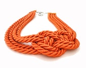 Tangerine Infinity Nautical Knot Necklace