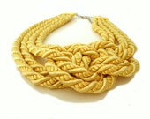 Yellow Nautical Knot Necklace