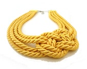 Spring Fashion Yellow Nautical Sailor's Knot Necklace