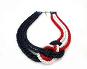 Nautical Rope Sailor's Knot Statement Necklace