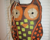 Owl Burlap Door Hanger Door Decoration