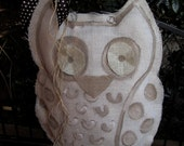 White Owl Burlap Door Hanger Door Decoration