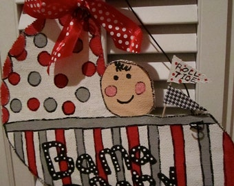 University of Alabama/Bama Baby Burlap Door Hanging/ Door Decoration