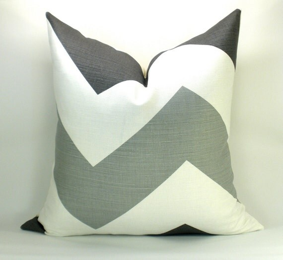 Pair of TWO High Voltage pillow covers in Smoke - 17 x 17