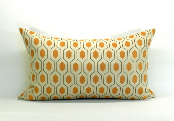 Thom Filicia Euclid pillow cover in Apricot - 12 x 20