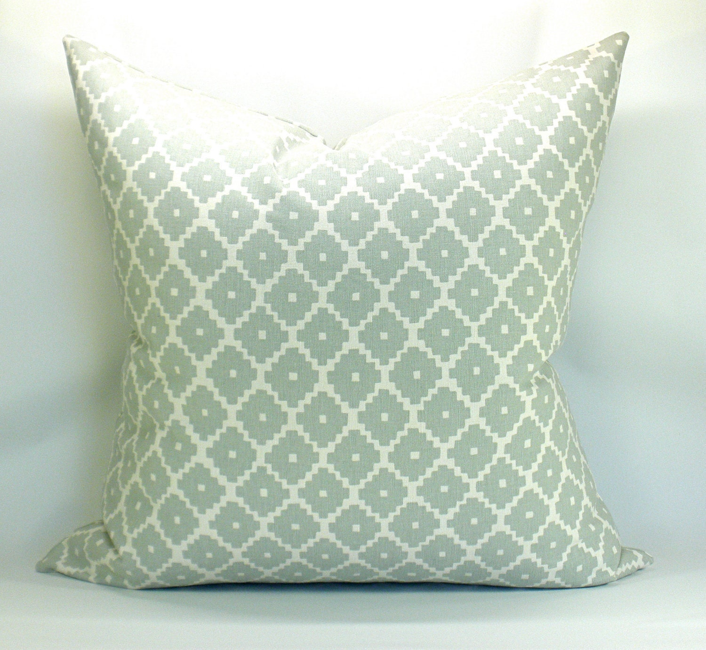 ziggurat pillow cover in mineral 20 x 20. Black Bedroom Furniture Sets. Home Design Ideas