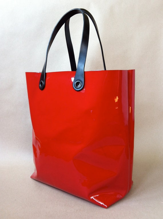 Reserved for Skye Sobejko Large Patent Leather Tote