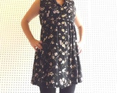 Sustainable Fashion black floral dress