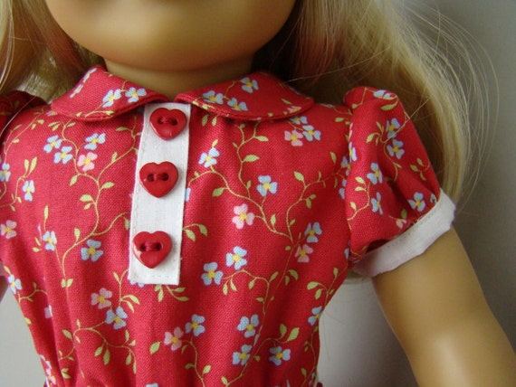 1930s party dress for American Girl or similar 18 inch doll.