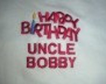 Happy Birthday Autograph Tee Shirt  with or without Personalization - Sizes from S to 3x