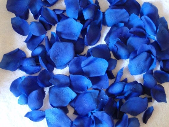 200 silk rose petals royal blue 2 wedding flower decorations