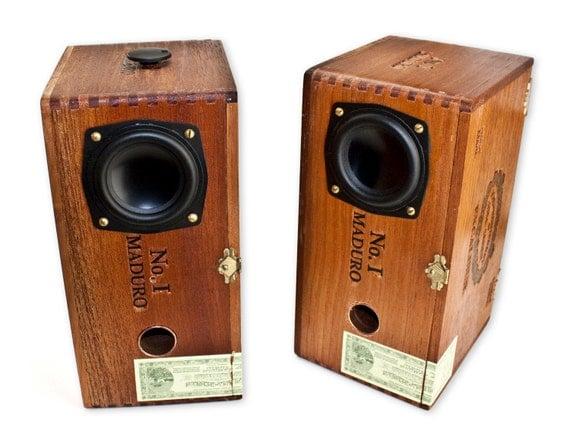 Custom  Cigar Box Amplified Speakers
