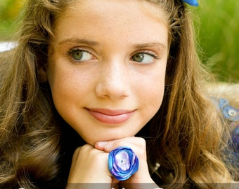 Cutomize your Satin Flower Ring and Hair Accessory