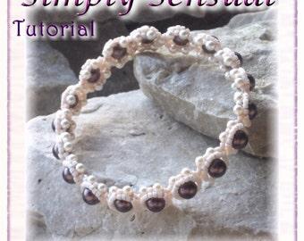 Bracelet / Bangle Tutorial - Beaded Pearl Bangle: Simply Sensual (Downloadable PDF)