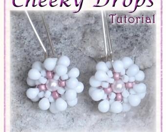 Beadwoven Flower Earrings Tutorial (Instant download PDF) - Cheeky Drops