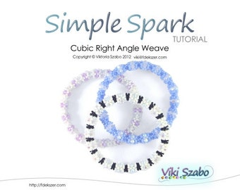 Beaded Bangle Tutorial Cubic Right Angle Weave / RAW - Simple Spark (Instant Download PDF)