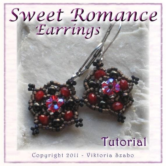 Beaded Earrings Tutorial (Instant Download PDF) - Sweet Romance