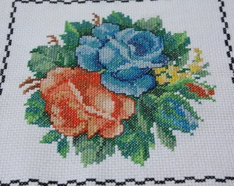Wall Art - Cross Stitched Roses