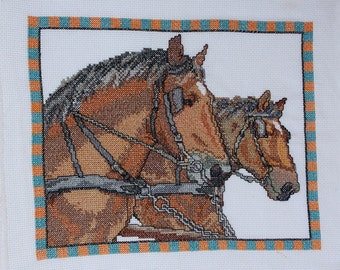 Cross Stitched Horses