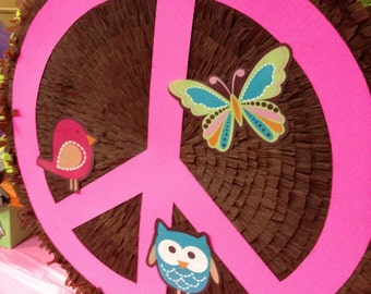 Peace Sign Pinata - Custom Made