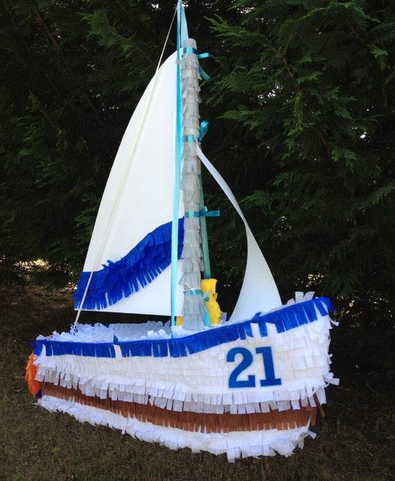 Sailboat Pinata. Ship Pinata.  Custom Pinata.