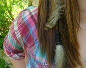 Double White Feather Hair Extension