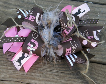 cowgirl hair bow