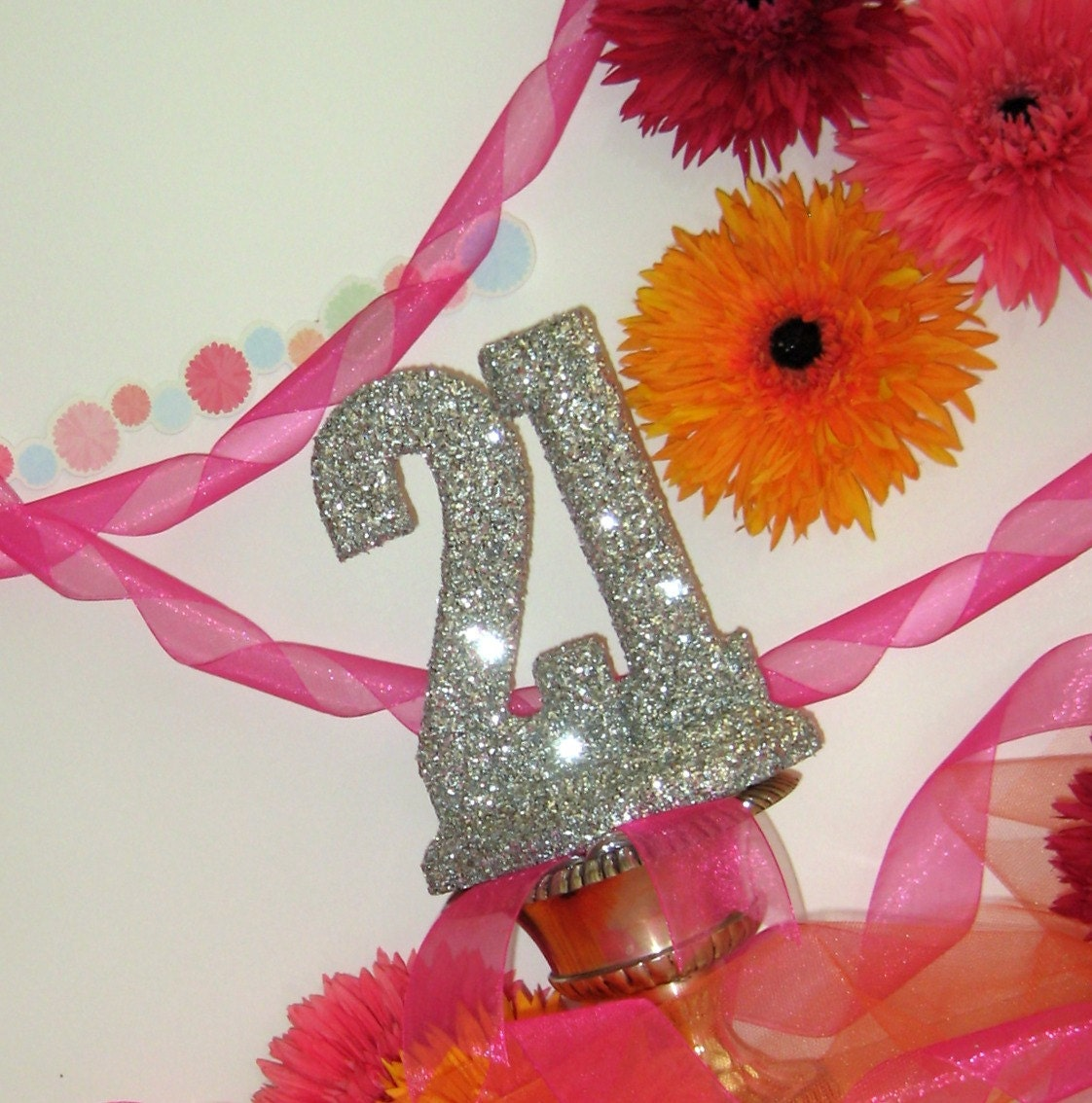 21st BIRTHDAY CAKE TOPPER Decorations By OHONEFINEDAY On Etsy
