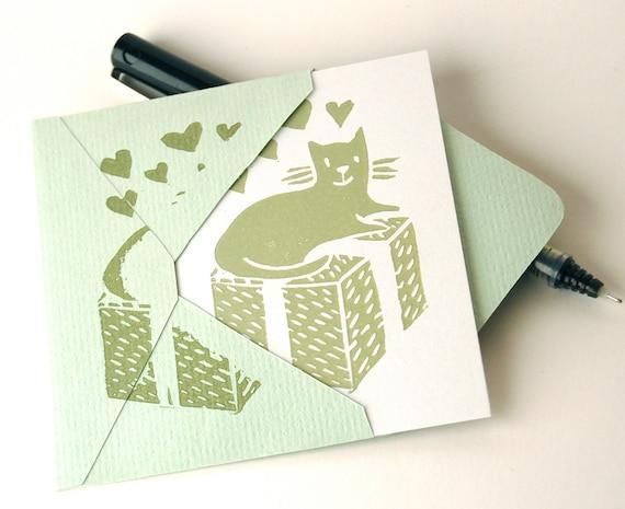 SALE: Happy Cat Mini-cards