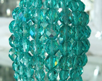 Small Sea Green Iridescent Beaded Light Bulb Cover, Chandelier Shade, Sconce Shade, Candelabra Lighting, Lamp Shade, Shabby Chic Lighting
