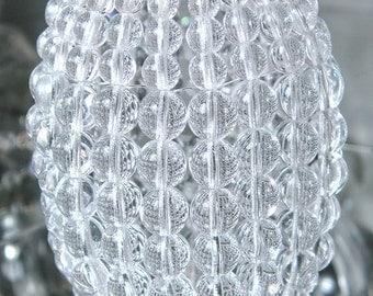 Medium Torpedo Beaded Light Bulb Cover, Glass Beaded Lamp Shade, Sconce Shade, Pendant Light, Chandelier Shade, Ceiling Light Cover
