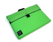 Black Star Bags Padded Laptop case for 13 inch Macbook - Fluorescent Green and Purple with Handle