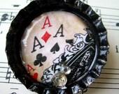 Aces High Bottlecap Pin