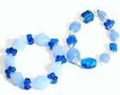 Reserved - Set of 2 Light and Dark Blue Childrens Bracelets