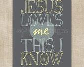 Jesus Loves Me 8x10 Nursery Art Print