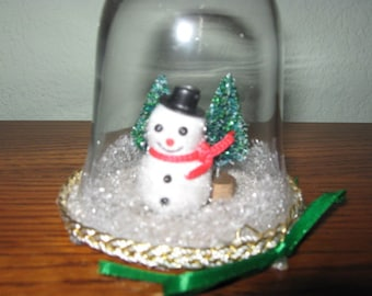 Snowman Water Less Snow Globe Christmas in July Sale